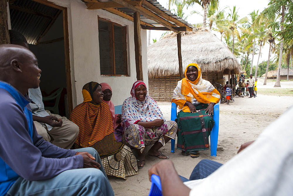 A group of women involved in a meeting about their village, Tanzania, East Africa, Africa