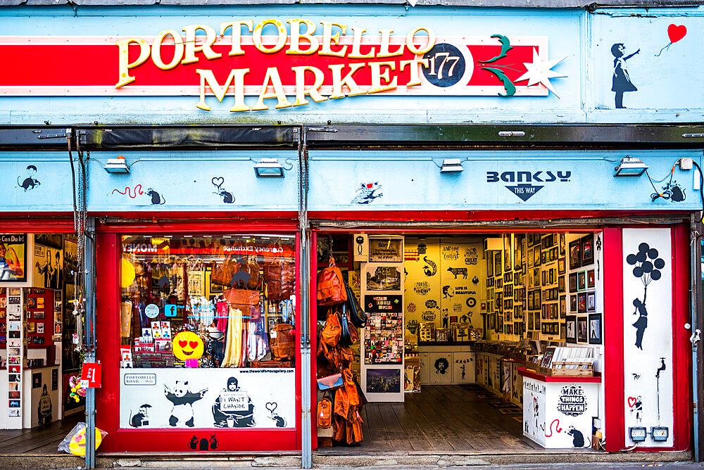 Portobello Road Market, Royal Borough of Kensington and Chelsea, London, England - 1272-114