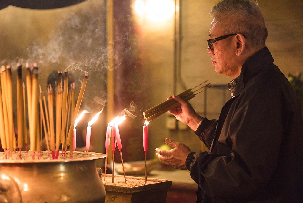 Man Mo Temple, Sheung Wan, Hong Kong Island, Hong Kong, China - 1272-258