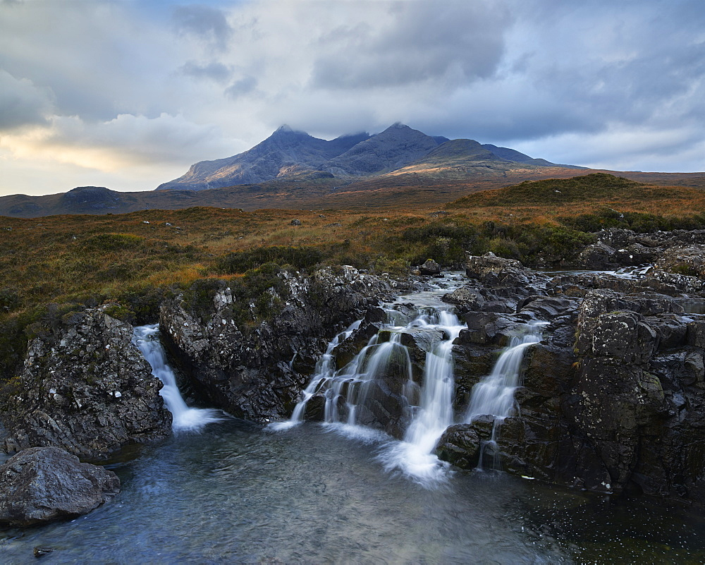 First light on the Cuillin, Isle of Skye, Inner Hebrides, Scotland, United Kingdom, Europe