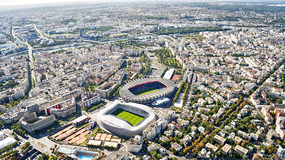 Aerial view of Stadion Le Parc des Princes, Stadion Jean Bouin, Paris, France, Europe