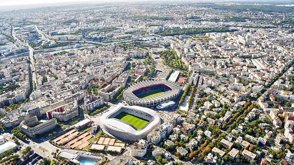 Aerial view of Stadion Le Parc des Princes, Stadion Jean Bouin, Paris, France, Europe - 1274-10