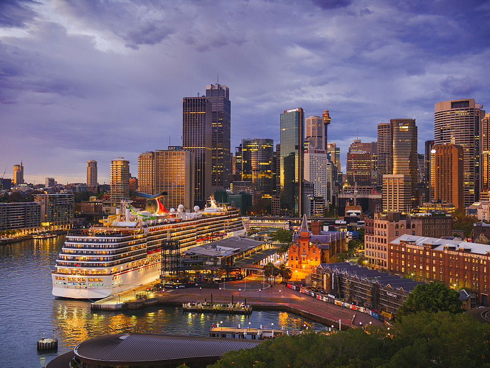 Sydney downtown skyline at dawn, Sydney, New South Wales, Australia, Pacific - 1275-89