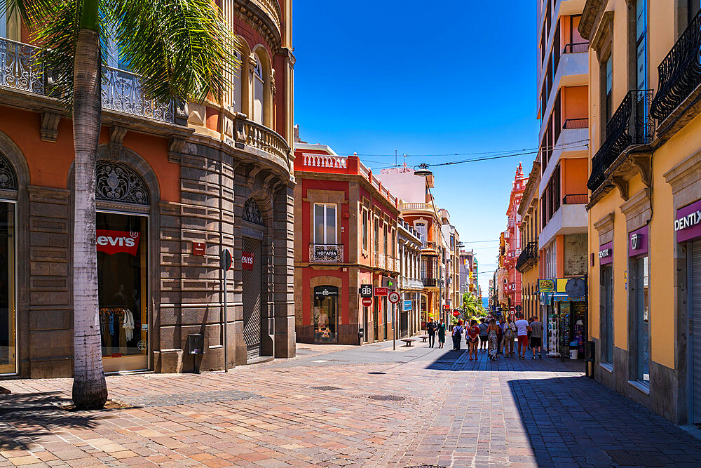 Corner of Castillio Street/ Robayna Street in Santa Cruz de Tenerife, Canary Islands, Spain, Europe