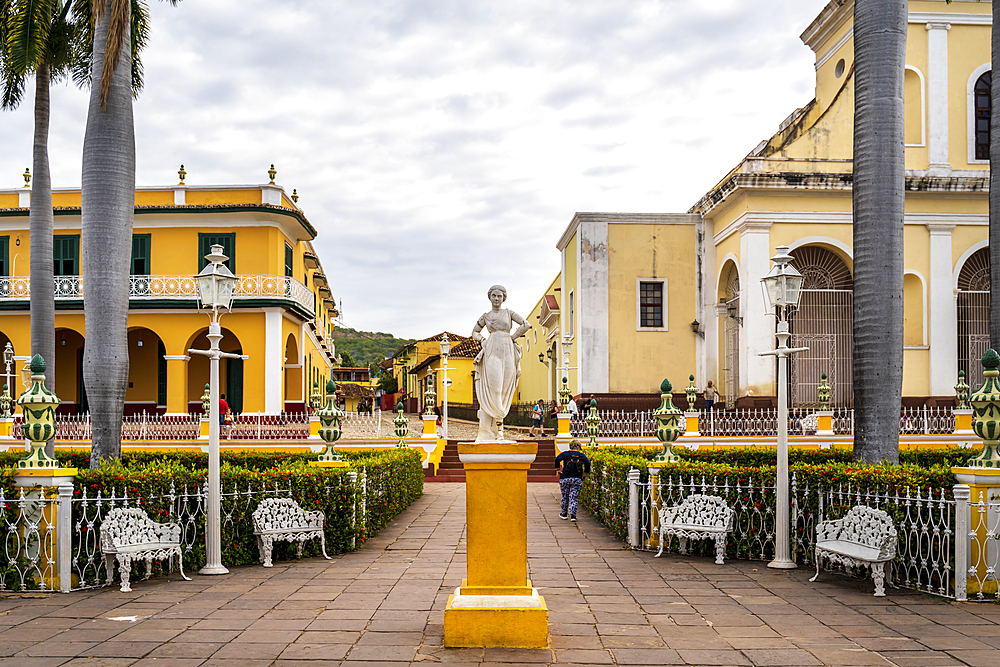 The Church of the Holy Trinity in Plaza Major in Trinidad, UNESCO World Heritage Site,Trinidad, Cuba, West Indies, Caribbean