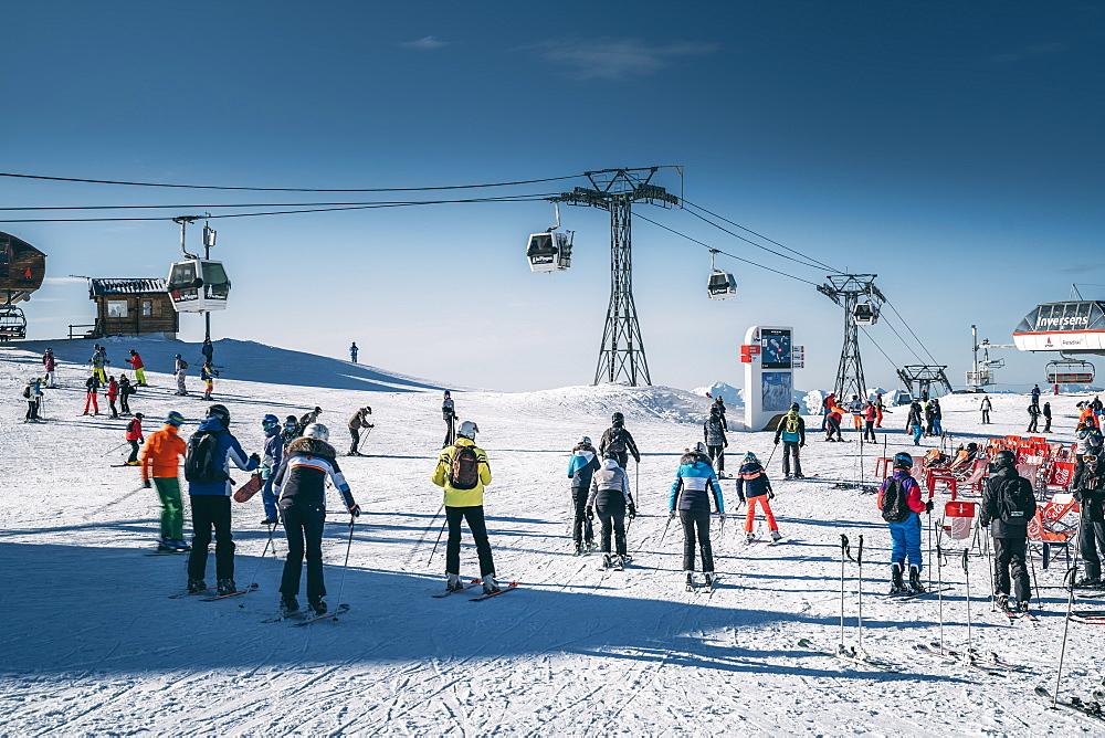 Roche de Mio at La Plagne ski resort, French Alps, Tarentaise, France, Europe