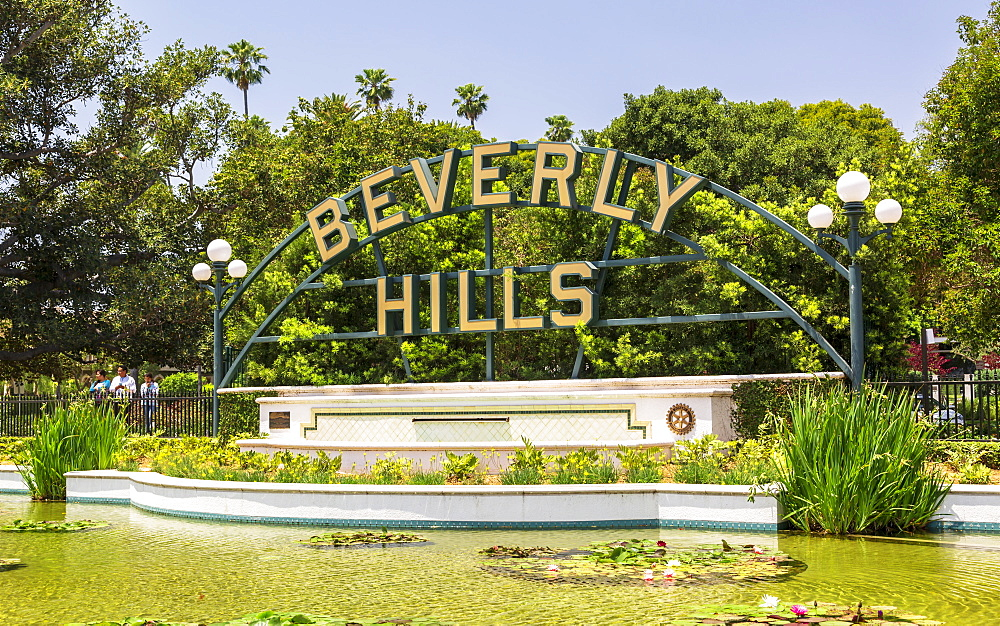 Beverly Hills sign, Beverly Hills, Los Angeles, California, United States of America, North America