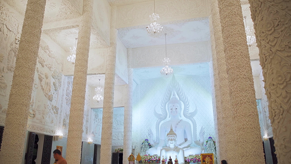 Video of the inside of a spectacular Wat Huay Pla Kang temple (Big Buddha), Chiang Rai, Thailand, Southeast Asia, Asia - 1276-2605