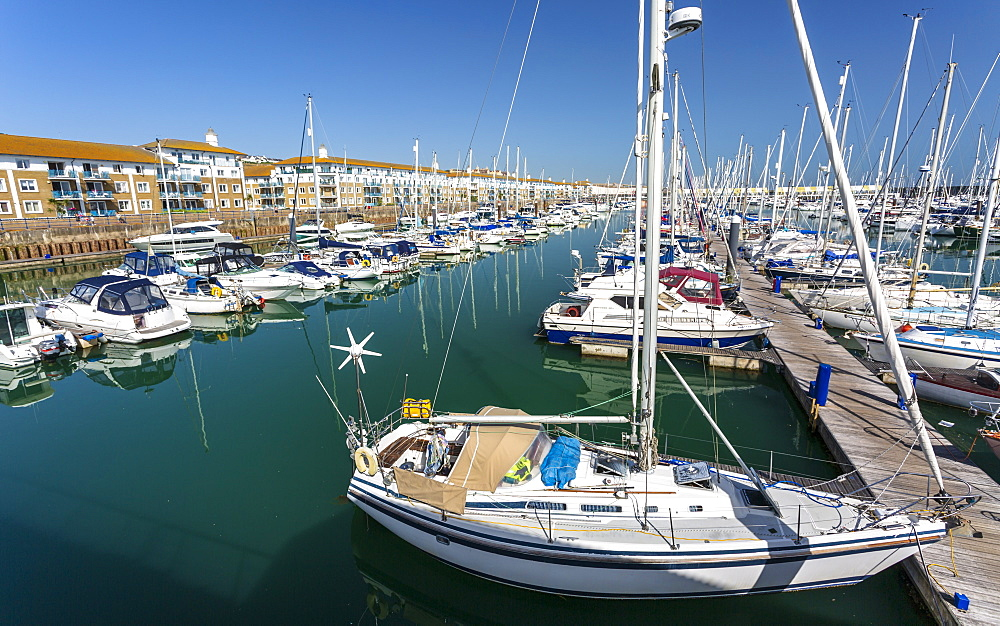 Luxury Yachts, Brighton Marina, Brighton, Sussex, England, United Kingdom, Europe