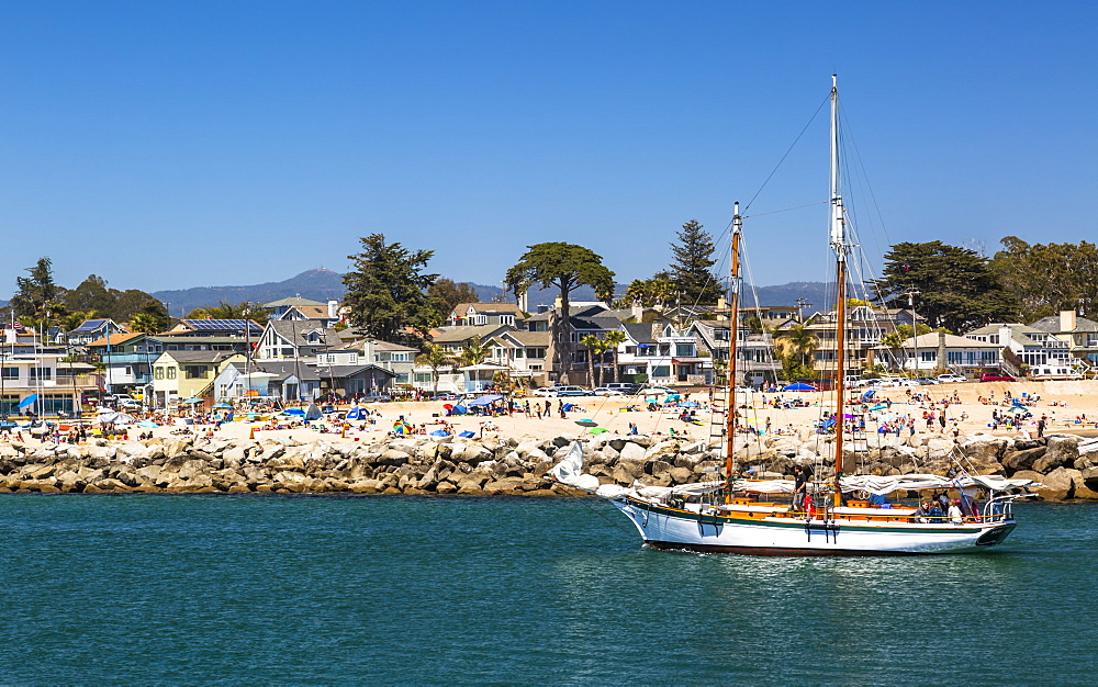 Santa Cruz Yacht Club at Santa Cruz harbor, Santa Cruz, California, United States of America, North America