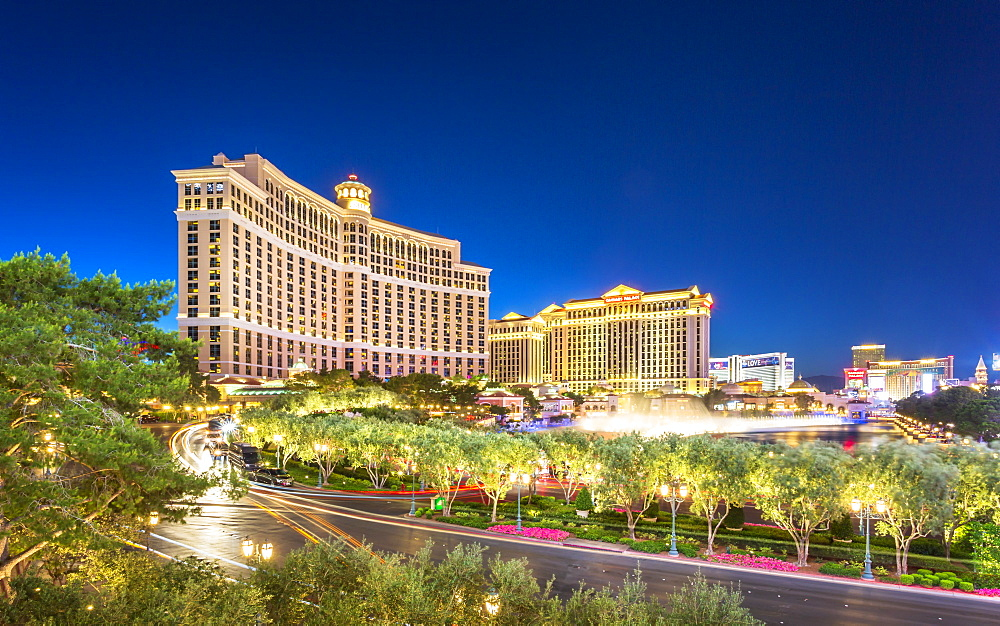 Ceasar Palace and Bellagio, The Strip, Las Vegas Boulevard, Las Vegas, Nevada, United States of America, North America