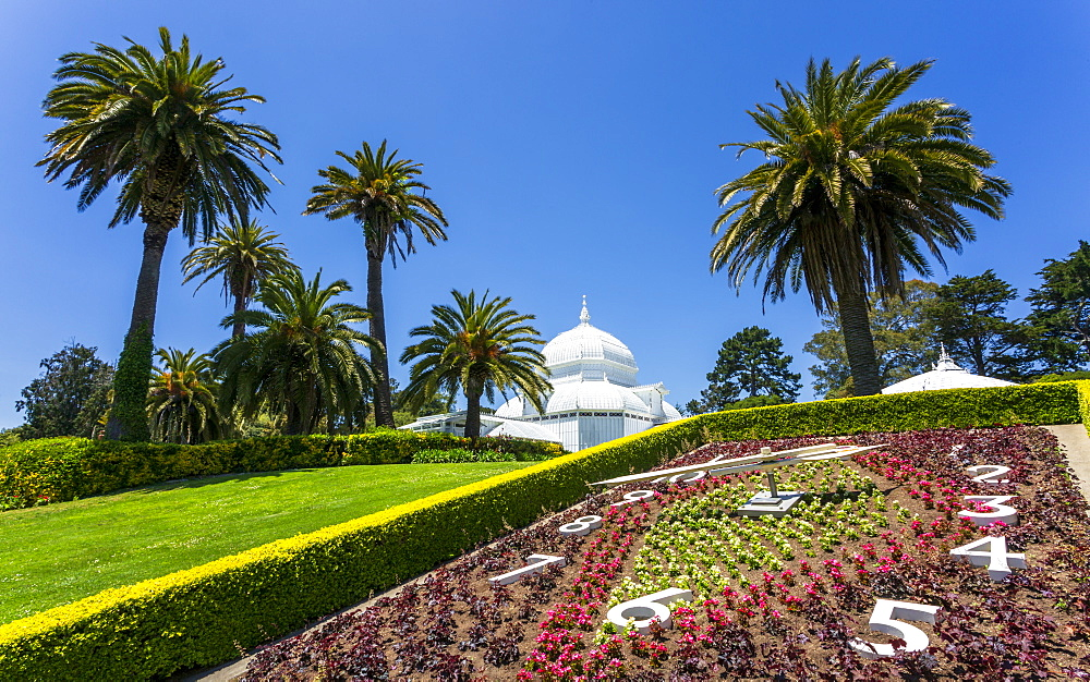 Conservatory of Flowers, Golden Gate Park, San Francisco, California, USA, North America - 1276-420