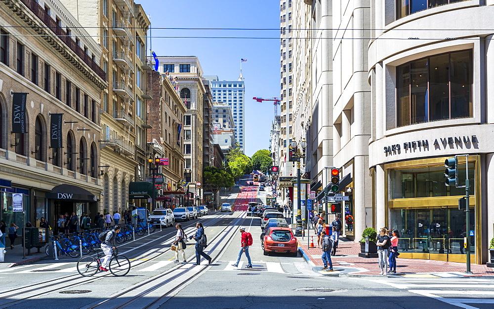 Powell Street, San Francisco, California, United States of America, North America - 1276-438