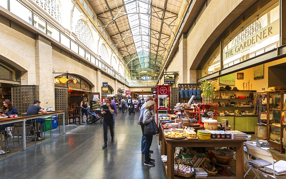 Interior of the Ferry Building Marketplace on the Embarcadero, San Francisco, California, United States of America, North America