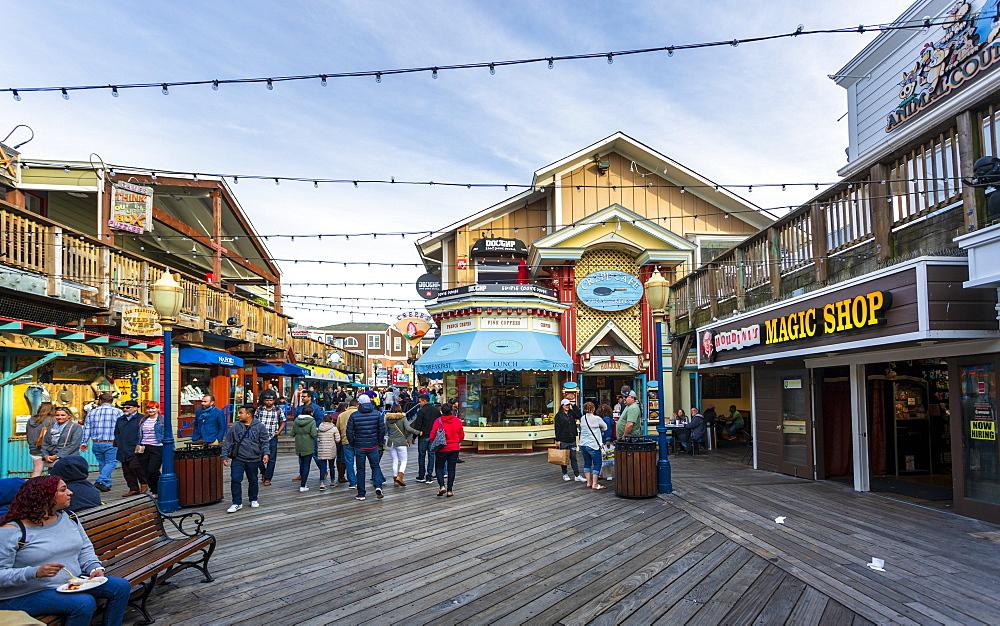 Pier 39 in Fishermans Wharf, San Francisco, California, United States of America, North America