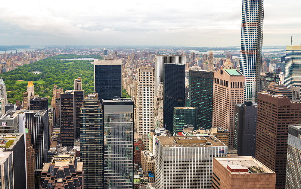 Central Park, Manhattan from Top of The Rock, New York, United States of America, North America