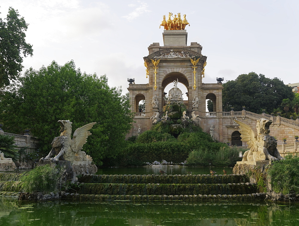 Cascada Monumental (Cascade monument) at the northern corner of Parc de la Ciutadella (Citadel Park) Barcelona, Catalonia, Spain, Europe - 1278-13