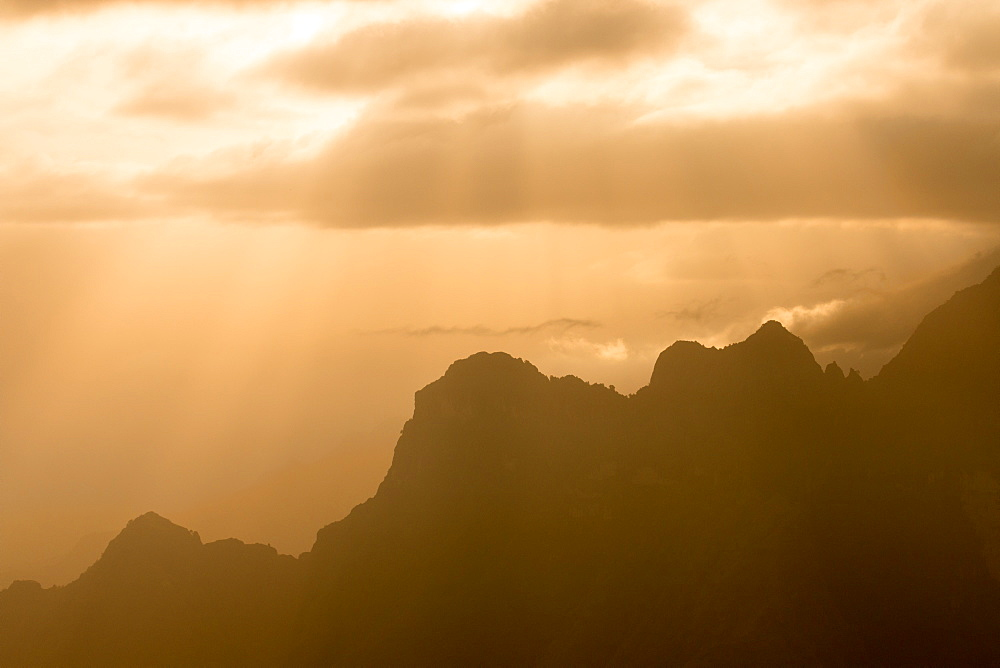 Jagged peaks of the Simien Mountains, Ethiopia, Africa