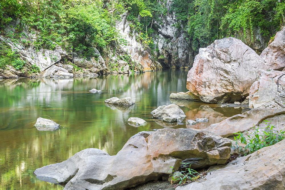 Canyon El Boqueron near El Estor and Rio Dulce, Guatemala, Central America