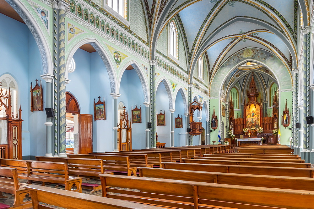 Interior of the Maria Auxiliadora Church in Granada, Nicaragua, Central America