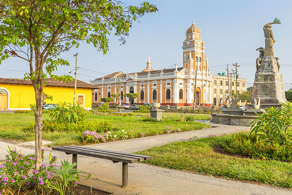 The Xalteva Church seen from Xalteva Square in Granada, Nicaragua, Central America