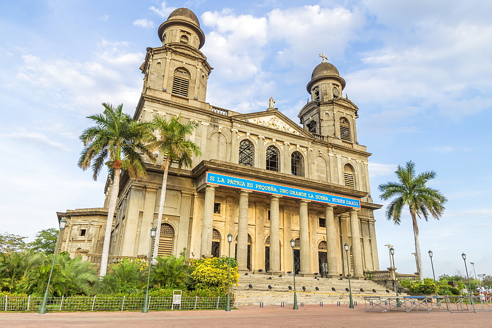 Ruins of the old cathedral Santiago de Managua, Nicaragua, Central America