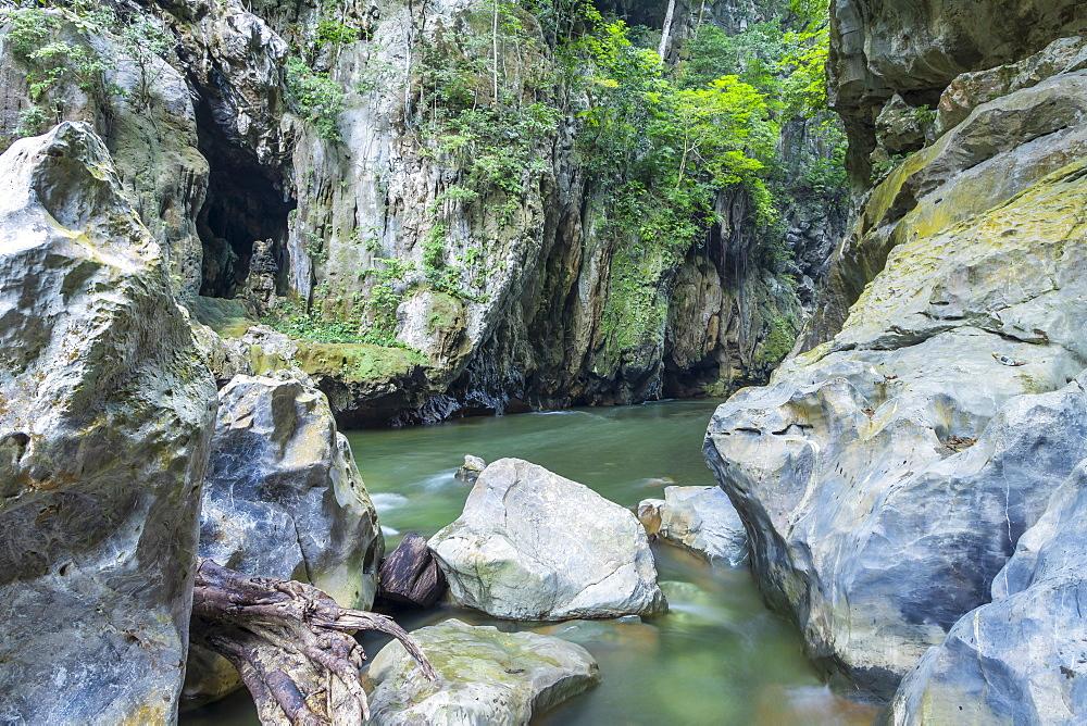 Inside the canyon El Boqueron, El Estor, Izabal, Guatemala
