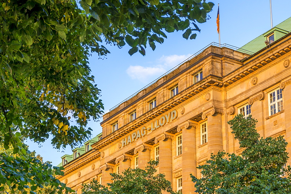 The Hapag-Lloyd Building at the Inner Alster, Hamburg, Germany, Europe
