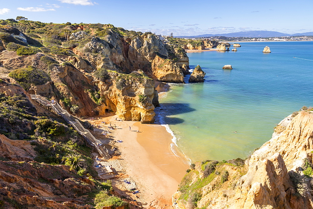 Camilo Beach near Lagos, Algarve, Portugal, Europe