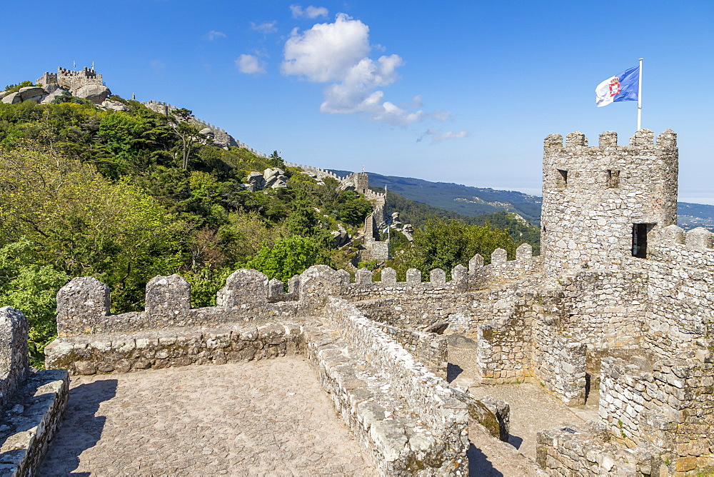 The Moorish Castle above Sintra, Portugal, Europe