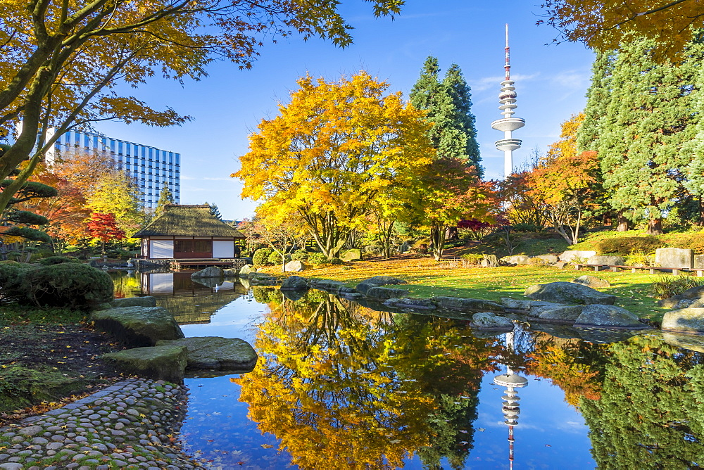 The Japanese Garden at Planten un Blomen park in Hamburg