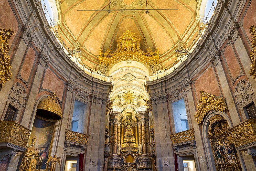 Interior of the Clerigos Church, Porto, Portugal, Europe