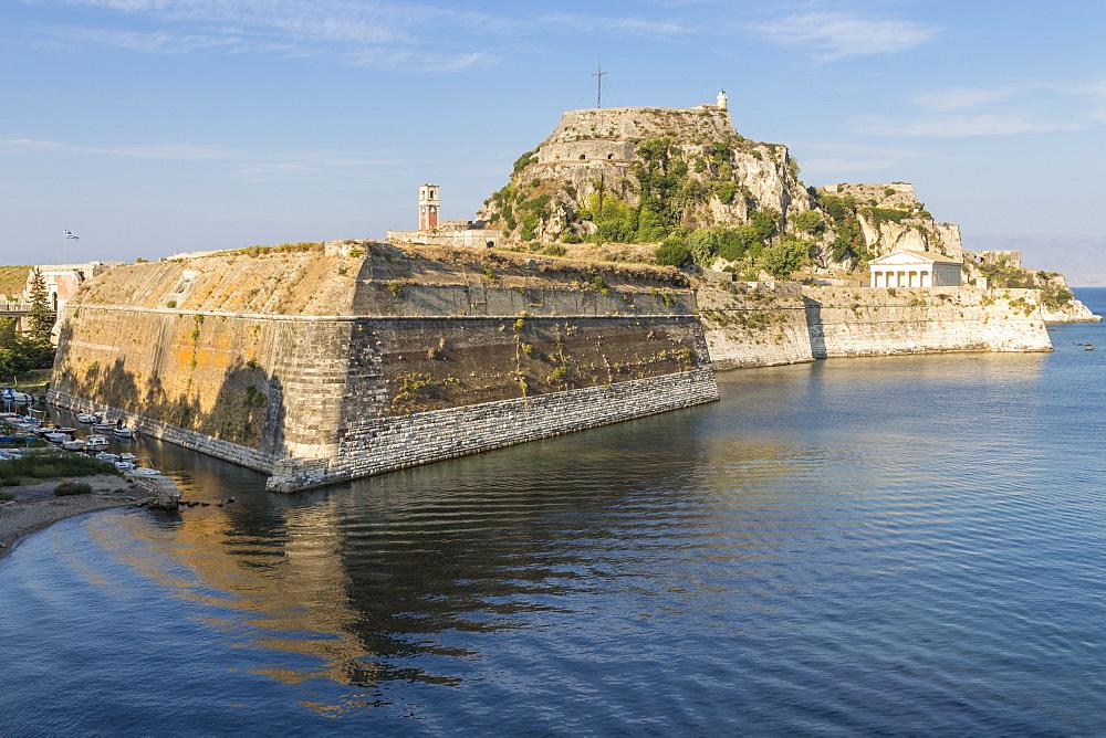 The old fortress of Corfu Town (Kerkyra), Corfu, Greece, Europe