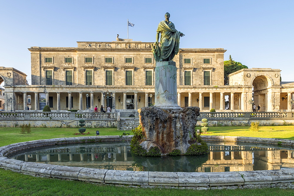 Agion Michail ke Antoniou Palace in Corfu Town (Kerkyra), Corfu, Greece, Europe