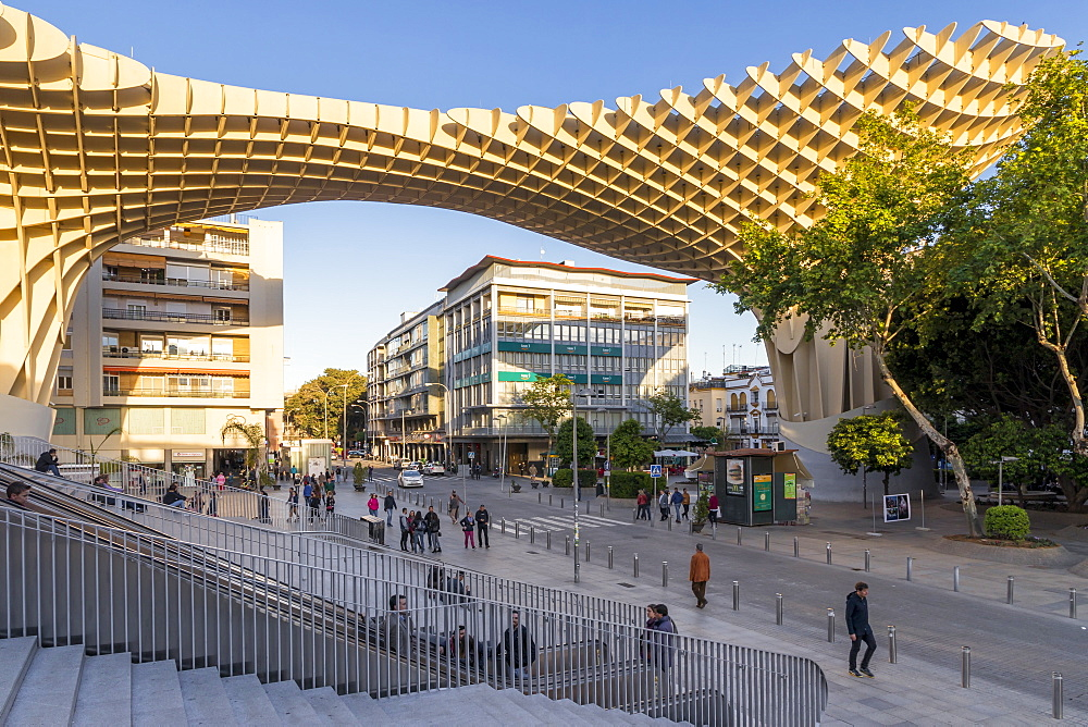 Metropol Parasol building, Seville, Andalusia, Spain, Europe