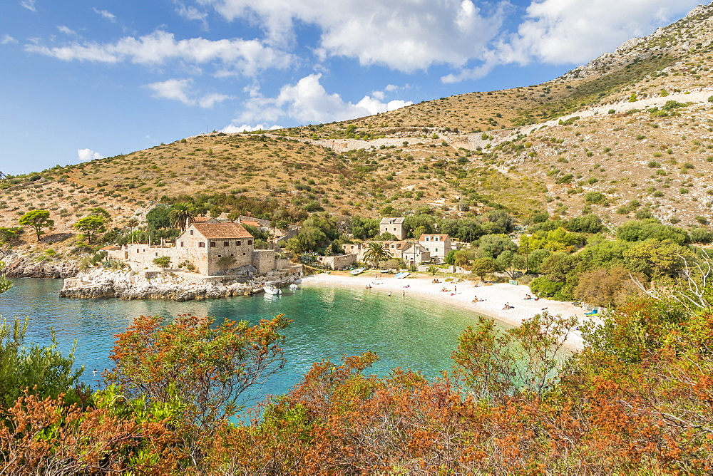Dubovica Beach on the island Hvar, Croatia, Europe