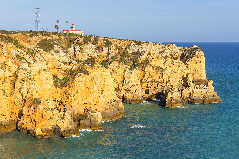 Lighthouse at Ponta da Piedade, Lagos, Algarve, Portugal, Europe