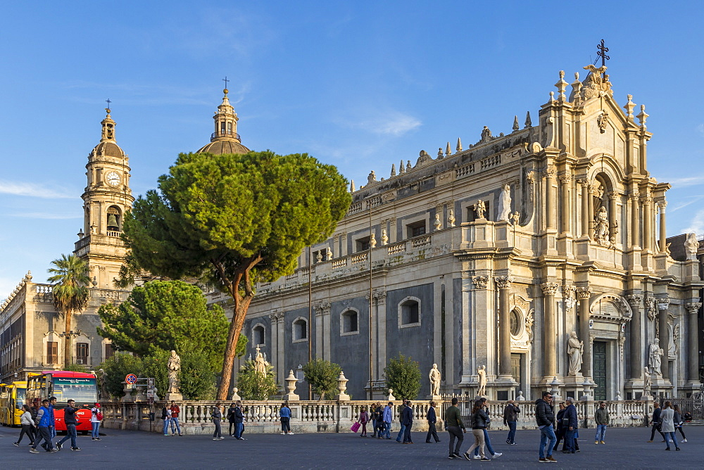 The Catania Cathedral, Catania, Sicily, Italy, Europe