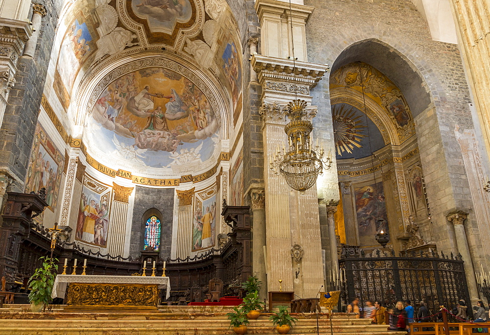 Interior of Catania Cathedral, Catania, Sicily, Italy, Europe