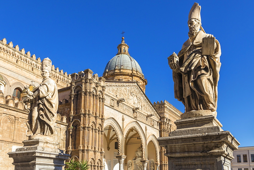 The Palermo Cathedral (UNESCO World Heritage Site), Palermo, Sicily, Italy, Europe - 1283-826