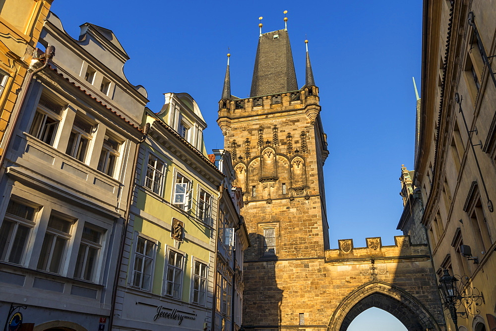 The Lesser Town (Mala Strana) Bridge Tower, Prague, Bohemia, Czech Republic, Europe - 1283-850
