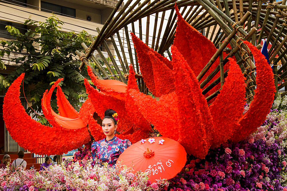 Image of floral displays at Chiang Mai Flower Festival