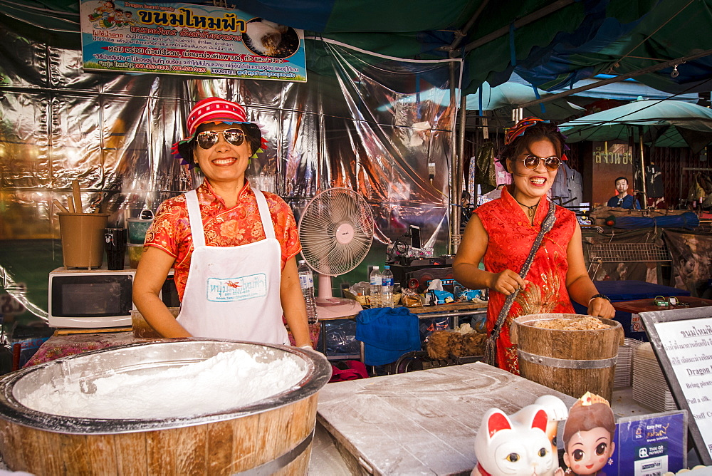 Chinatown market at Chinese New Year, Chiang Mai, Thailand, Southeast Asia, Asia - 1286-74