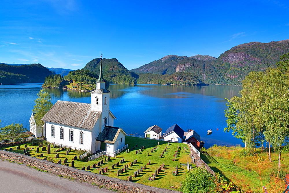 Vikaneset, Romarheimsfjorden, Forde, Norway, Scandinavia, Europe