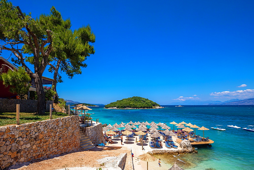 Tre Ishujt Beach, Ksamil, South coast, Albania, Europe