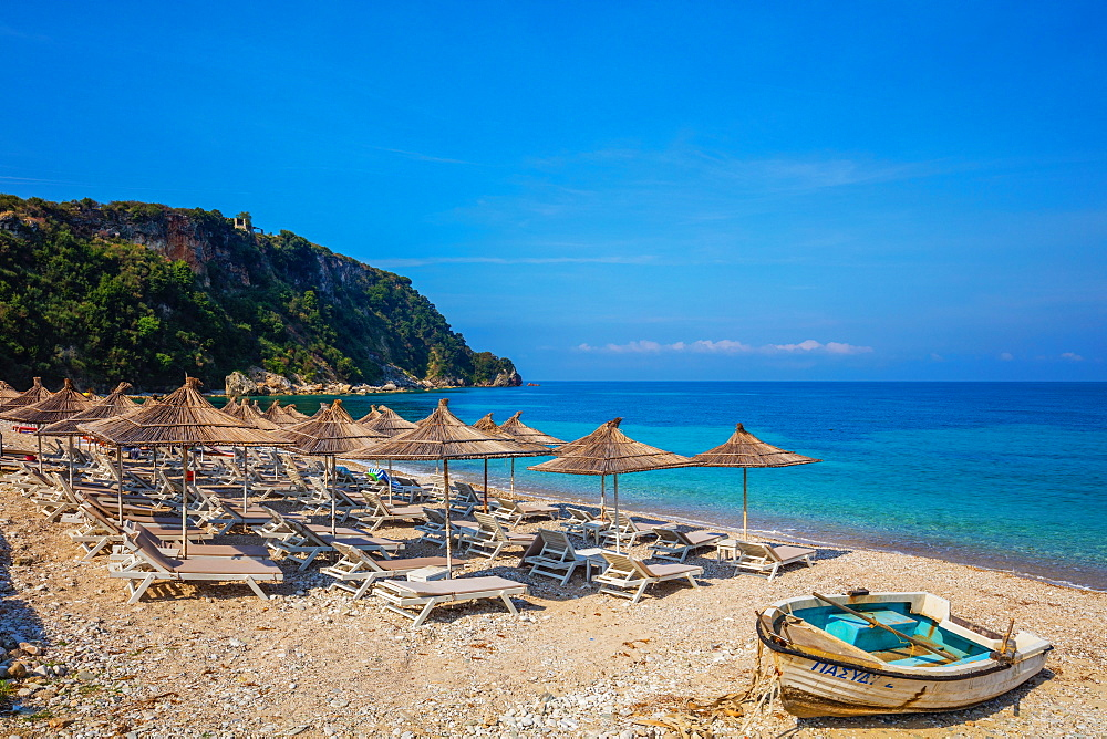 Potami Beach, Himara, South coast, Albania, Europe