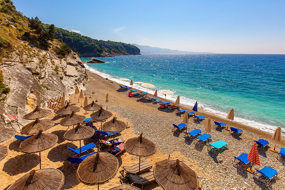 Pulbardha Beach, Himara, South coast, Albania, Europe