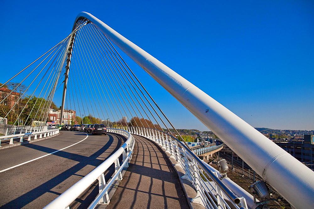 Calatrava Bridge, Liege, Belgium, Europe