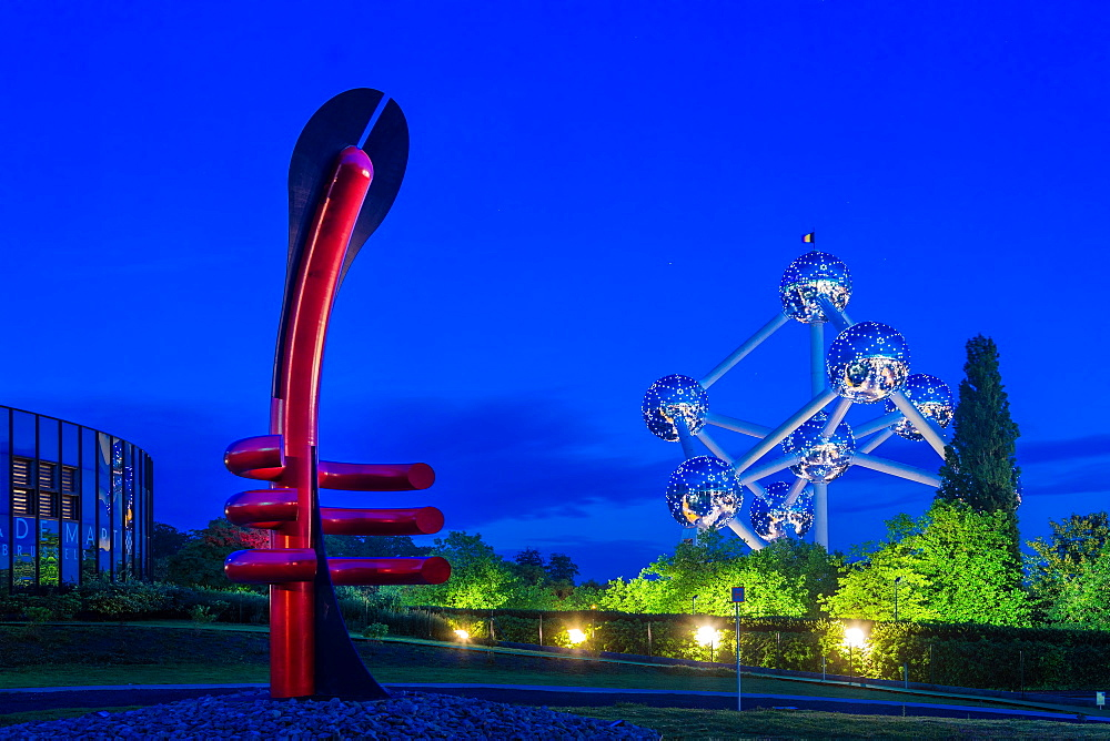 Adam Museum and the Atomium, Brussels, Belgium, Europe