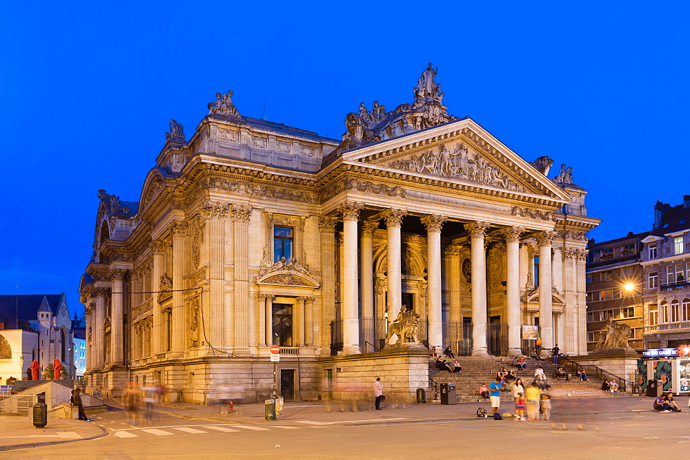 The Place de la Bourse, Brussels, Belgium, Europe